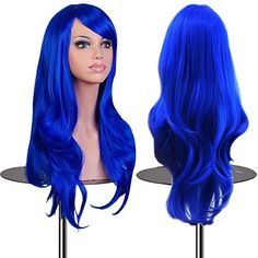 EmaxDesign Wigs 28 Inch Cosplay Wig For Women With Wig Cap and Comb(Dark Blue) EmaxDesign http://www.amazon.com/dp/B00Y832PNU/ref=cm_sw_r_pi_dp_H4mcwb19G95B5