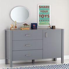 Uptown Wide Dresser (Grey)    The Land of Nod