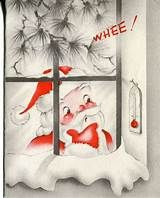 Vintage Christmas Card: Santa Claus Looking at Thermometer through a Window Christmas Card Images, Vintage Christmas Images, Retro Christmas, Vintage Holiday, Christmas Greeting Cards, Christmas Pictures, Christmas Art, Christmas Greetings, Christmas Windows