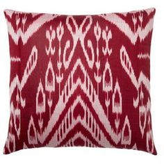 Add a pop of style to your bed, sofa, or chaise with this eye-catching silk pillow, showcasing a chic design and luxuriously plush fill.Product: PillowConstruction Material: Silk cover and down/feather insertColor: MultiFeatures:    Hidden zipperInsert includedMade in Uzbekistan Dimensions: 20 H x 20 WCleaning and Care: Dry clean only