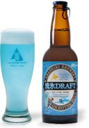 Feeling blue? Japan's got a beer for that: Okhotsk Blue to be exact, a foamy brew made with water sourced from icebergs, tinted icy blue with seaweed.