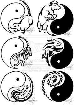 Chinese Zodiac Tattoos 1 by The-Blackwolf.deviantart.com
