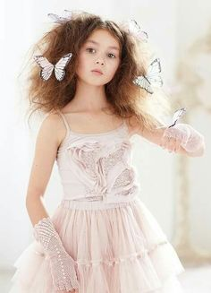 Social Butterfly Singlet from Tutu Du Monde Down The Rabbit Hole collection Fashion Kids, Young Fashion, Girls Tutu Dresses, Flower Girl Dresses, Special Dresses, Future Daughter, A Boutique, Organic Cotton, Ideias Fashion