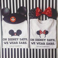 On Disney Days We Wear Ears - His & Hers - Crew Neck