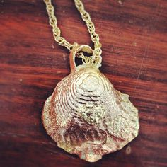 Brass shell key ring made by me in jewellery 1 Cuttlebone casting