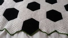video on how to crochet a soccer afghan - Google Search