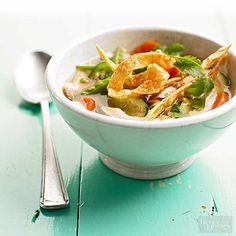 Warm up after a chilly night out with this delicious chicken tortilla soup. This stew is easy to make and ready in about 30 minutes. Whether you prepare the recipe for six people or enough for one, the leftovers make an awesome hot lunch.