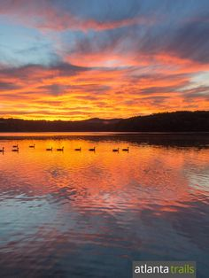 Catch a stunning sunrise at Sweetwater Creek State Park, and stay in one of the park's new yurt campsites