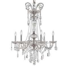 Cambridge 6-Light Polished Chrome 29 in. Chandelier