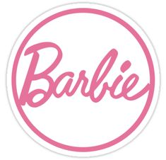 """""""Barbie Logo"""" Stickers by supergaystore   Redbubble"""