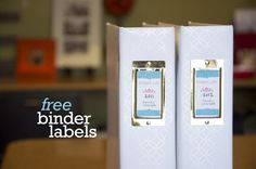 free binder labels