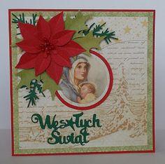 Kartki świąteczne w tradycyjnej kolorystyce