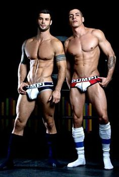 Twinsies, twinks, double-team,jock straps, buff boys, shirtless, athletes, muscular, male partners, wrestlers