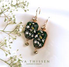 Tresor. Elegant handmade polymer clay earrings with an oriental feel. Made to…