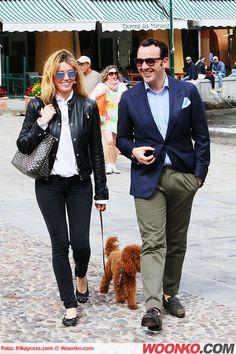 Elena #Barolo e Alessandro #Martorana a passeggio per #portofino #celebrities #fashion #shopping #style
