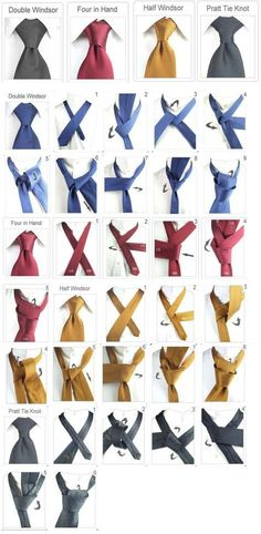 Men Clothing Tie ties types Men ClothingSource : Krawatte binden arten by alleideen Tie Knot Styles, Mens Fashion, Fashion Outfits, Fashion Tips, Fashion Trends, Tie A Necktie, Tie A Tie, Style Masculin, Mode Masculine