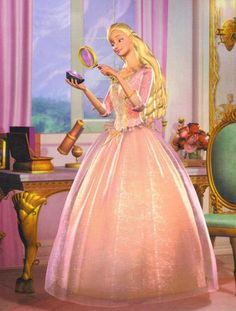 "My favorite Barbie costume in ""The Princess and the Pauper."""