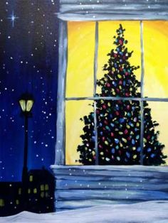 I am going to paint Christmas Eve Dreams at Pinot's Palette - Riverwalk to discover my inner artist!