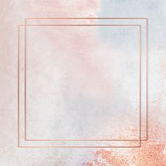 Download premium vector of Square copper frame on pastel background vector