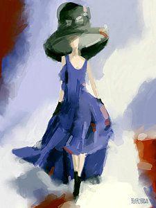 Painting - Yohji Yamamoto Fashion Illustration Art Print by Beverly Brown
