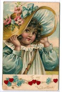 ❤ Vintage Greeting Card Art Poster Print! ☮~ღ~*~*✿⊱╮ レ o √ 乇 !! - Children by FRANCES BRUNDAGE - Valentine