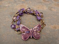Bead Crafts, Jewelry Crafts, Jewelry Ideas, Beaded Jewelry, Jewelry Bracelets, Sari Silk, Wire Wrap, Handcrafted Jewelry, Jewerly