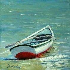 row boat painting. Diana Marshall