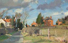 David Curtis (1948-) > Scudding Clouds Everton   Oil, 9x12