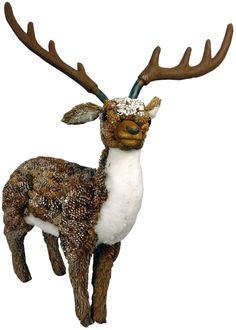 30cm Standing Pinecone Wood Reindeer Home or Christmas Decoration (WL25) | Home & Garden, Holiday & Seasonal Décor, Christmas & Winter | eBay!