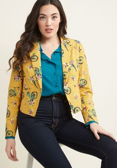Go Global Cotton Blazer in Bicycles