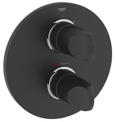 Shop Grohe Veris Thermostatic Shower Mixer Final Assembly Set, Velvet Black Free delivery on eligible orders of or more. Bathroom Taps, Shower Bathroom, Bathrooms, Black Taps, Plumbing Tools, Shower Fixtures, Black Shower, Bathroom Collections, Shower Enclosure