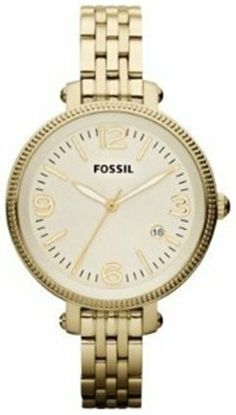 Fossil Heather Mid-Size Stainless Steel Watch Gold-Tone Fossil. $106.15. Heather Collection. 50 Meters / 165 Feet / 5 ATM Water Resistant. 34mm Case Diameter. Mineral Crystal. Quartz Movement. Save 39% Off!