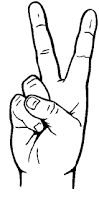 Image result for peace hand sign outline