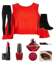 """""""Classy red"""" by leonastar ❤ liked on Polyvore featuring River Island, adidas Originals, Witchery, NARS Cosmetics, OPI and Guerlain"""