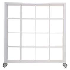 MAGNA II White gloss tall shelving unit