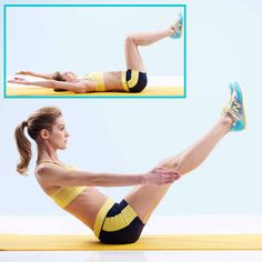 Pilates Teaser. To do it right, come down very slowly. | health.com