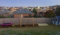 Our back yard starting to take shape for the girls