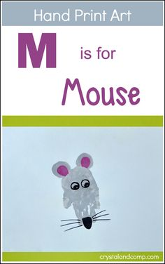 Make a Handprint Mouse to go with the Letter M
