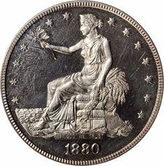 US Coins 1880 Silver Trade Dollar