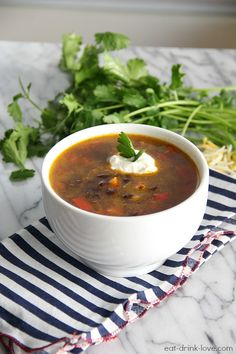 Spicy Black Bean Soup (vegan and gluten-free)