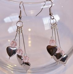 Three Hearts and Pink Crystals