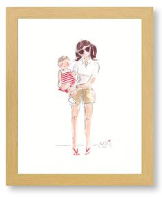 Image of CUSTOM WATERCOLOR PORTRAITS - WAIT LIST 4-6 WEEKS. Totally doing this!!