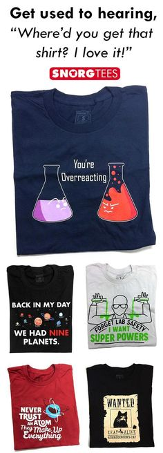 SnorgTees makes funny, witty pop-culture inspired t-shirts and hoodies for men, women and kids. Our tees are made with super soft, comfy materials that'll have you reaching for your favorite SnorgTee week after week. Whether you're looking to upgrade your