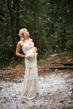 Deborah Lindquist wedding dress.