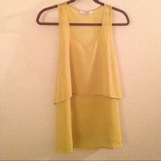 Forever 21 yellow tank Light yellow forever 21 tank. Perfect for the spring and summer time! Size small. Forever 21 Tops Tank Tops