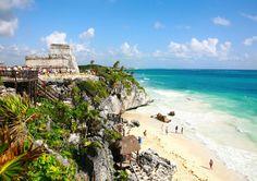 【メキシコ】カリブ海に面した城塞都市「トゥルム遺跡」