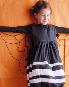 DIY Halloween Spider Princess Costume. Could easily be made for an adult too.