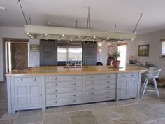 Huge painted kitchen island