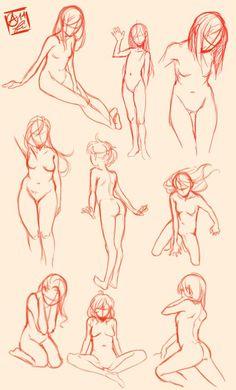 Female Pose Study by Fishiebug.deviantart.com on @deviantART: