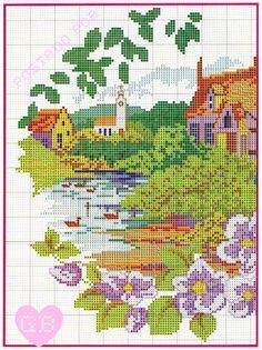 ! Graphics voor borduurwerk: Landschappen